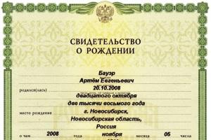 Какие документы нужно предоставить для регистрации ребенка в картире