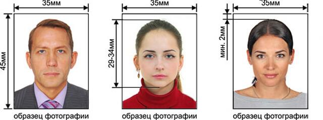 Размеры и требования к фото на загранпаспорт нового образца