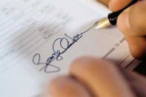 Наказание за фальсификацию подписи на официальных документах.