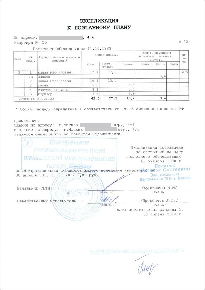 Технический паспорт квартиры страница 5