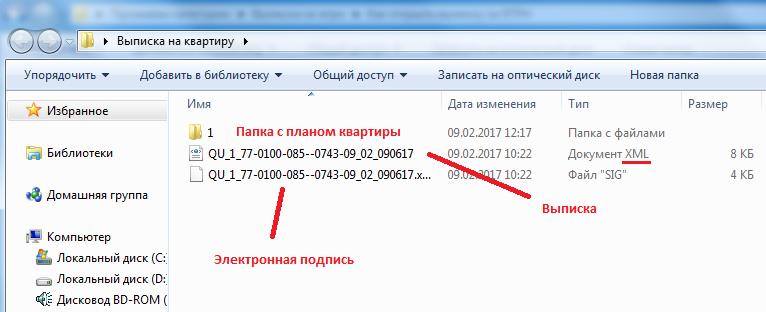 Проверка файлов выписки Росреестра