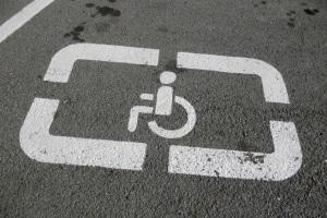 Разметка место для инвалида