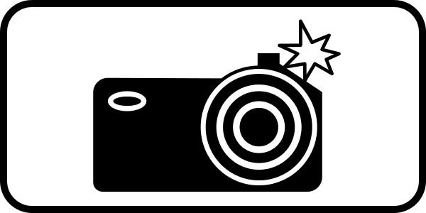 Знак дорожные камеры на дороге