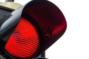 Штраф на красный свет на ЖД переезде